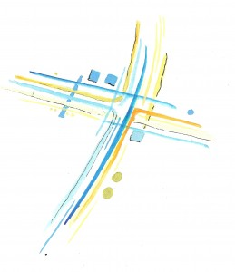 Blue Green Yellow cross 1